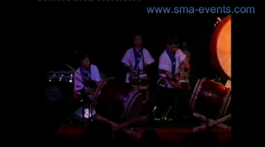 Japanische Taiko Trommelgruppe